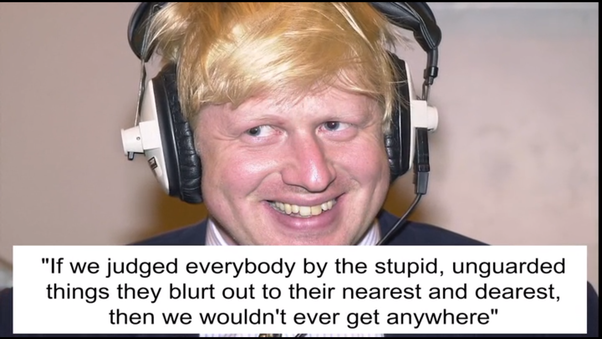 """Could Boris Johnson plausibly not have known what the slang """"spaffed"""