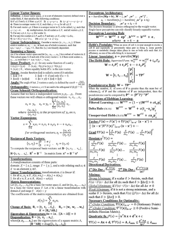 What is the best linear algebra cheat sheet for machine learning ...