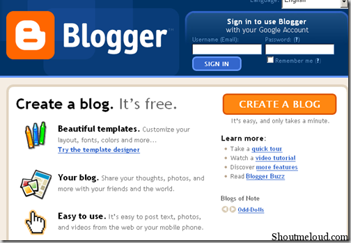 Delicieux Step 2: You Can Then Select A Blog Template (you Can Change It Anytime),  And Click On U201cCreate Blogu201d.