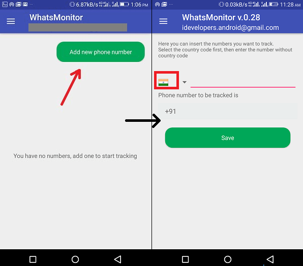 Track WhatsApp Online for Android Phone