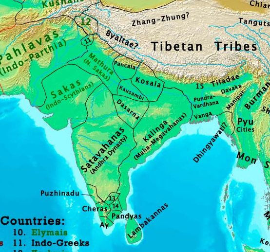 How did the map of india change from 1 ad to the 21st century quora the west to the arakan yoma and pegu yoma mountains in the east and from himalayas in the north to indian ocean in the south this is a tentative map gumiabroncs Image collections