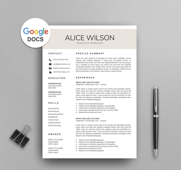 How To Make A Resume On Google Docs Quora