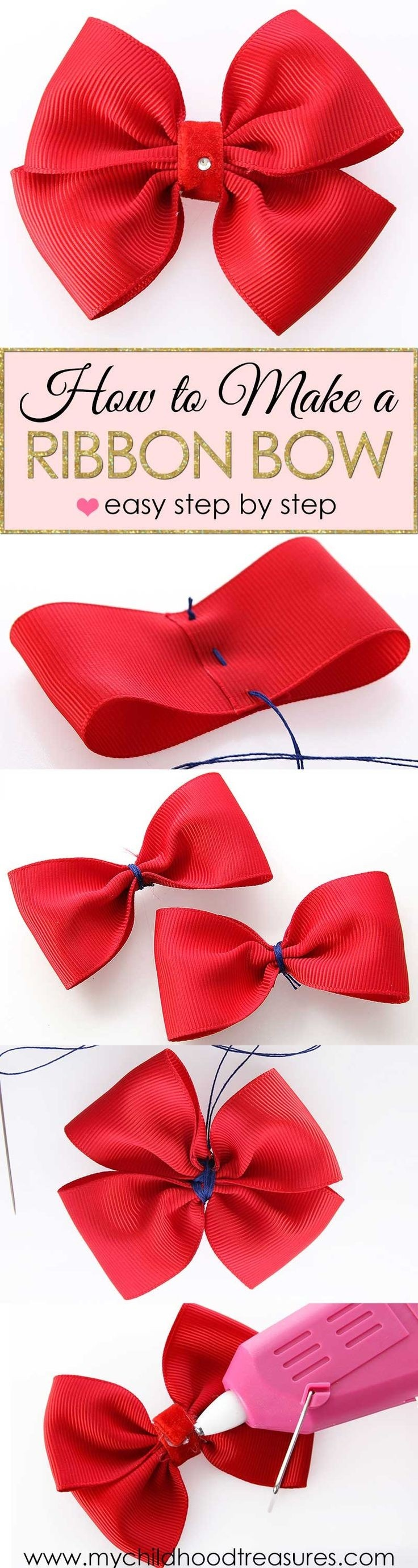 How To Make A Hair Bow With Ribbon Quora