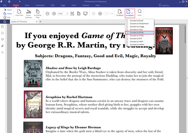 How can we convert  pdf to  epub or  mobi for kindle? - Quora