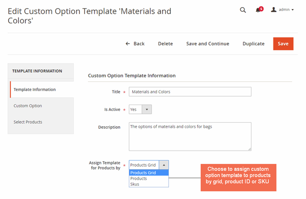 What extension can add Custom Options to multiple products in