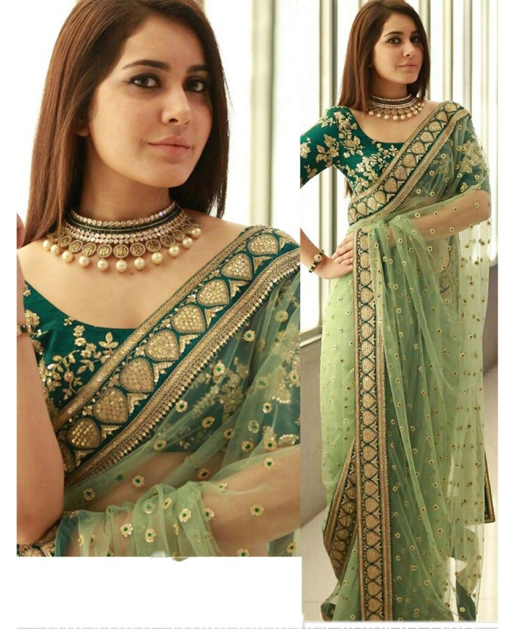0abc1ccd6ed21 Half and half sarees  This is another designer saree type that you can  choose to stand up in the crowd. With some beautiful designs