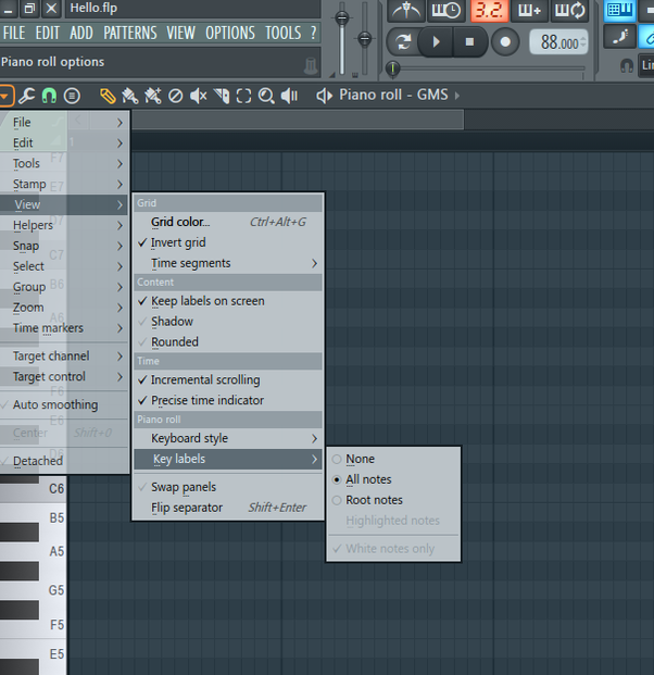 Where is the chord option in the Piano roll of FL Studio 12 1? - Quora