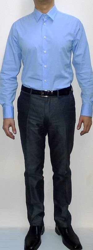 What Colour Pants Will Go Well With A Light Blue Shirt For