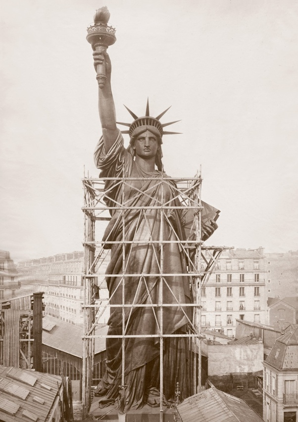 The Statue Of Liberty Is Now Green But It Used To Be Copper While The Statue Was Forming Its Patina Were There People Calling For Its Restoration To The Natural Copper How