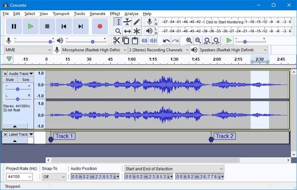What is the best sound recording free software for laptop