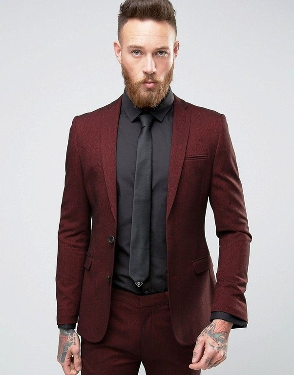 What color ties can I wear with a maroon suit and a black ...
