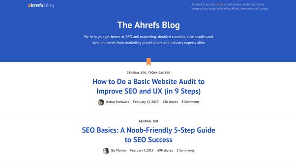 Is Ahrefs a good SEO blog to follow? - Quora