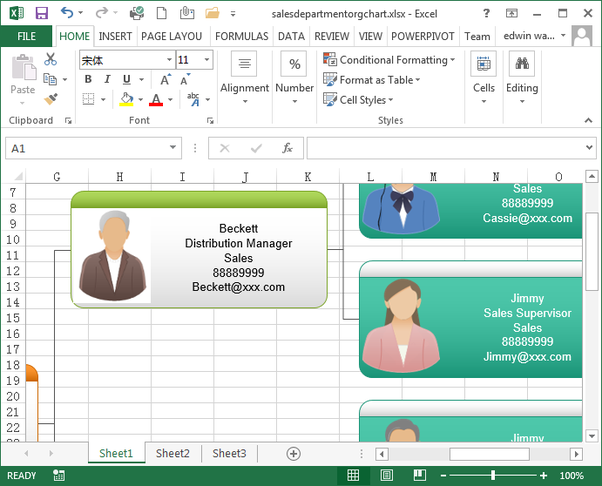 How To Create A Data Linked Org Chart In Excel Quora