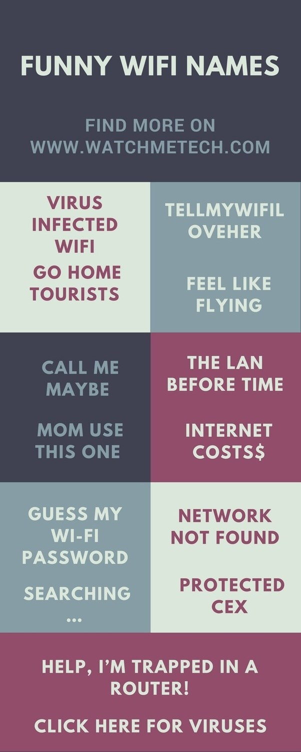 where can a find a collection of funny wifi names quora