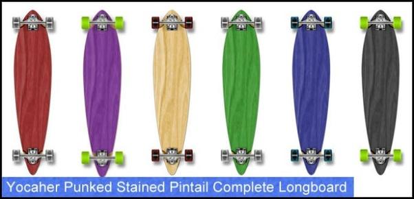 longboards longboard beginners punked yocaher pintail stained skateboard beginner longboarding