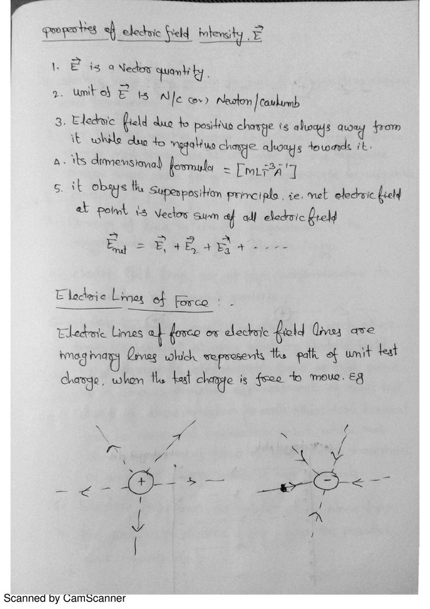 What Is The Dimensional Formula Of Electric Field Intensity Quora