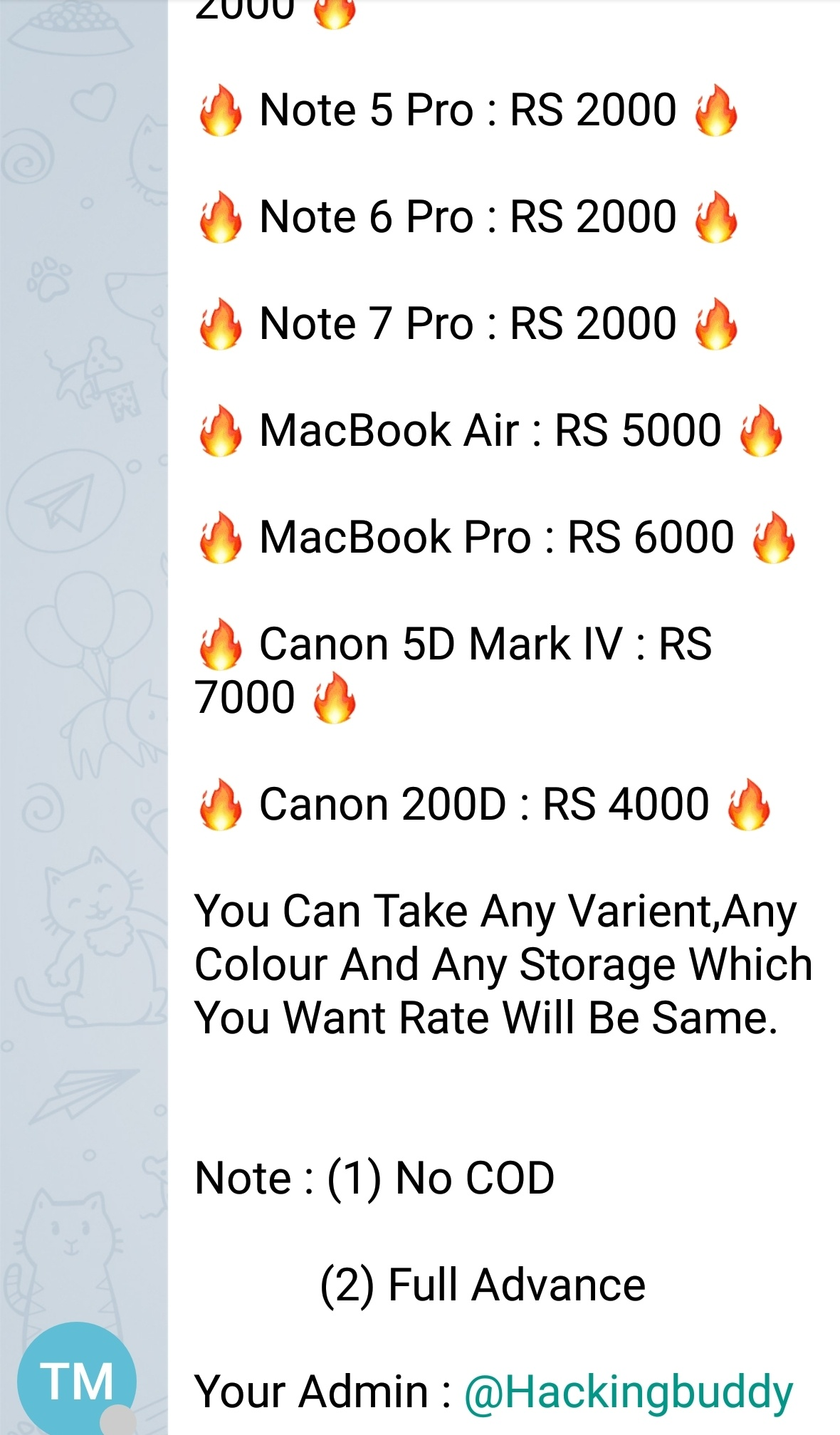 Is Amazon carding advertisement through telegram believable