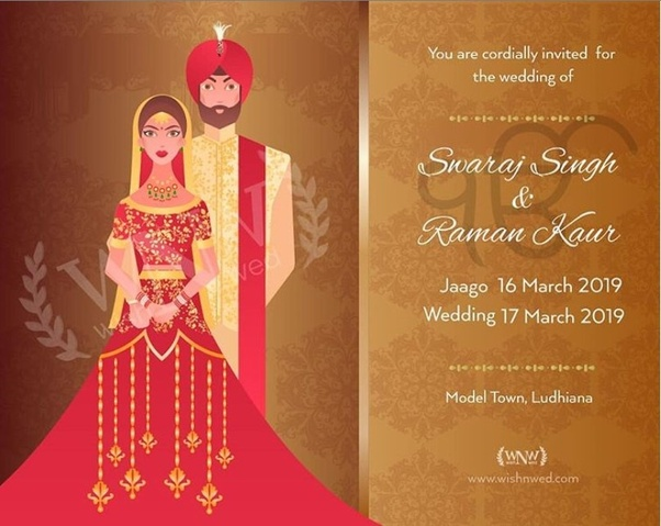 Online Wedding Invitation Card