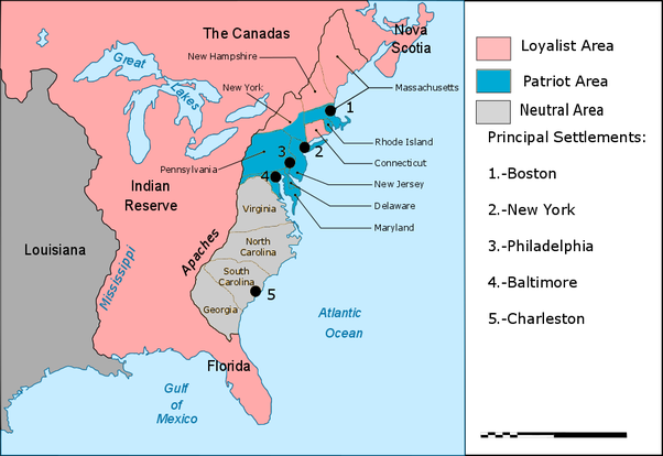 Which of the 13 colonies were the most pro-British? - Quora on