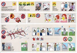 Passenger safety instructions of a plane stock photo: 4685761 alamy.