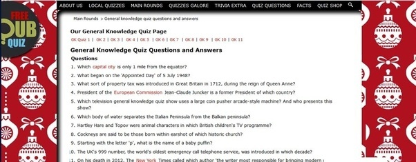 Images of Simple General Knowledge Quiz With Answers - #rock-cafe
