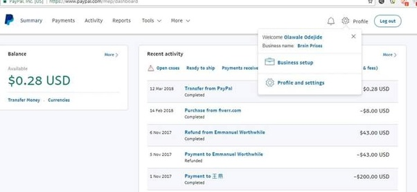 Can I receive payment through PayPal in a personal account