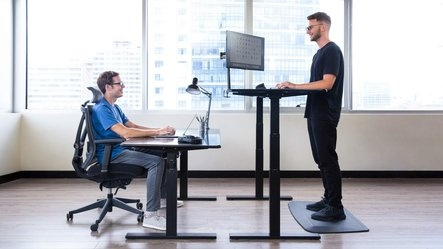do standing desks make a difference quora rh quora com standing sitting desk legs standing sitting desks adjustable