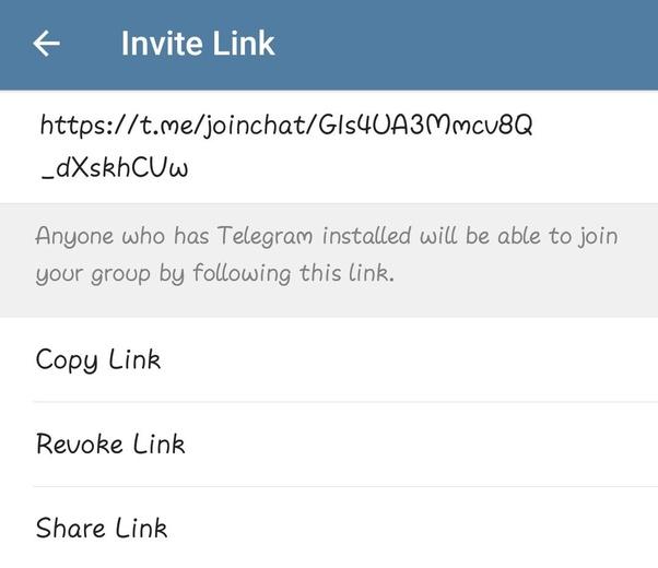 How do obtain telegram groups link? - Quora