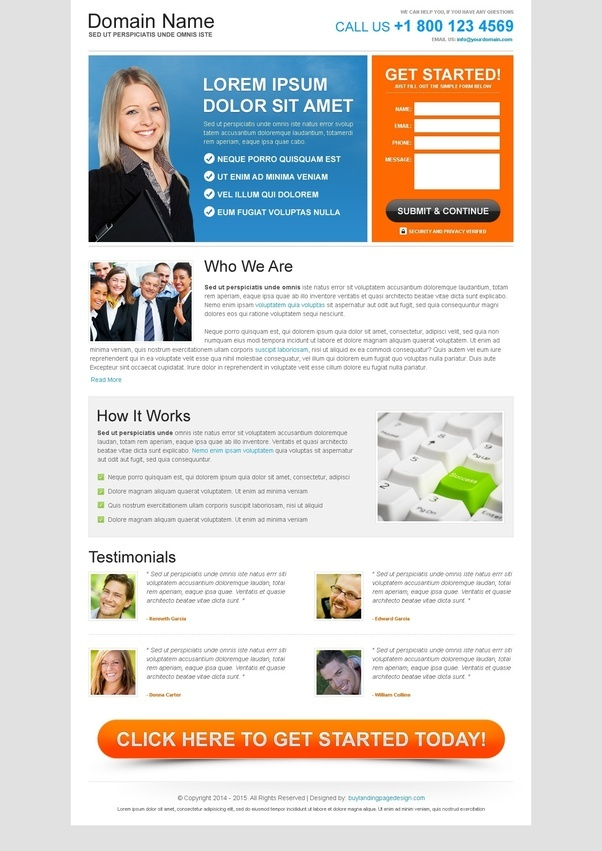 From Where I Can Download Free Landing Page Design Templates Quora - Free ad templates online