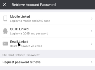 Quora password reset