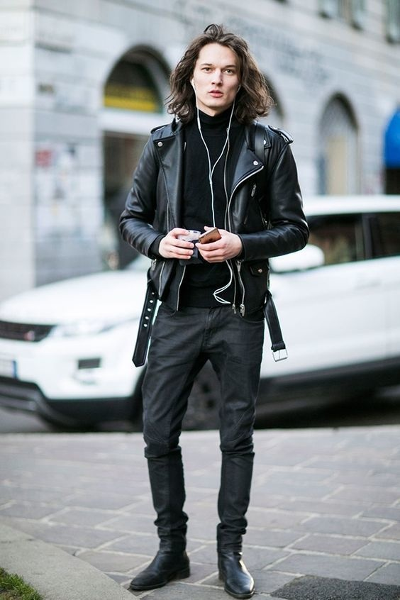 What Shoes Go Well With A Black Leather Jacket And Dark