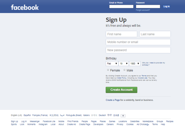 How to get HTML and CSS code of Facebook welcome page - Quora