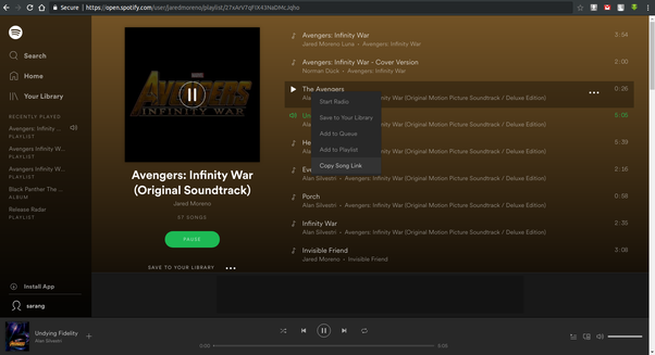 Where can I download the Avengers Infinity War soundtracks