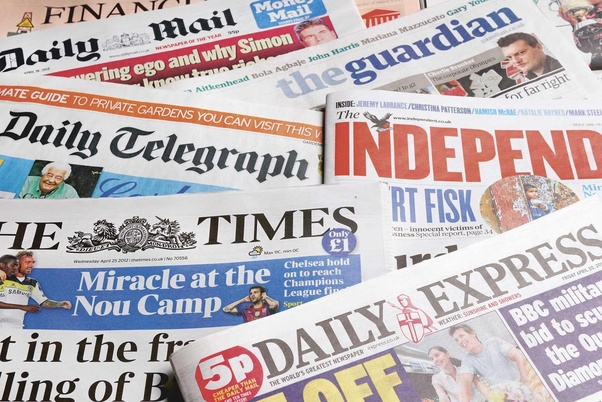 English news paper pictures