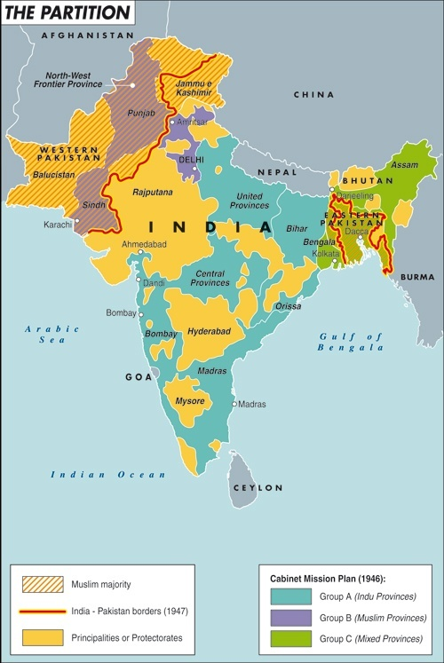 Besides different ways of writing does anything else distinguish a map illustrating the partition of india and pakistan gumiabroncs Gallery