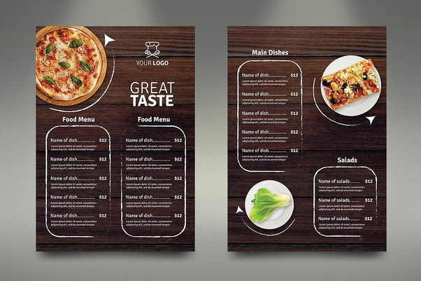 How much do design firms charge for a restaurant menu
