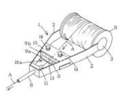 how can a toroid core  donut shape  be wound with a wire  like in the application as a