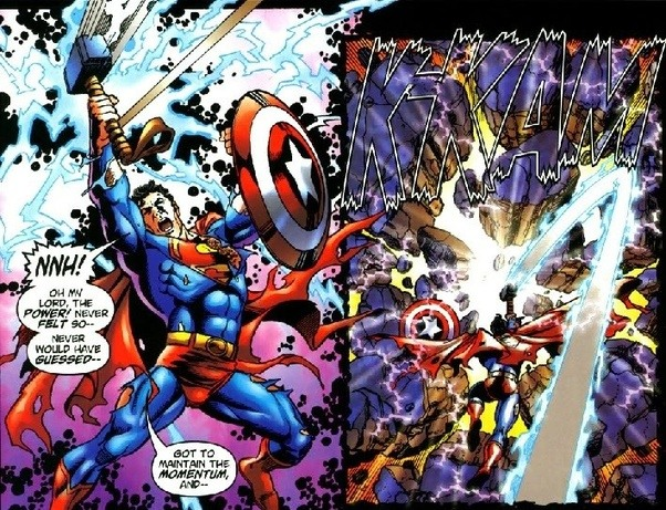 i realize the fact that this justice league vs avengers crossover was more a scavenger hunt then brawl to the death but the justice league came out on top - Avengers Vs Justice League