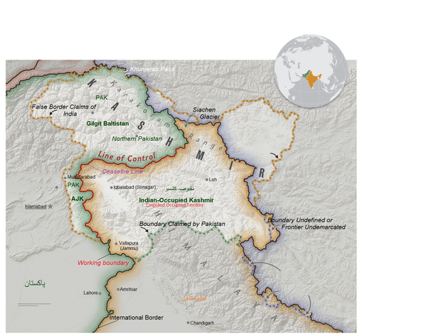 What is the official true map of the Kashmir region? - Quora
