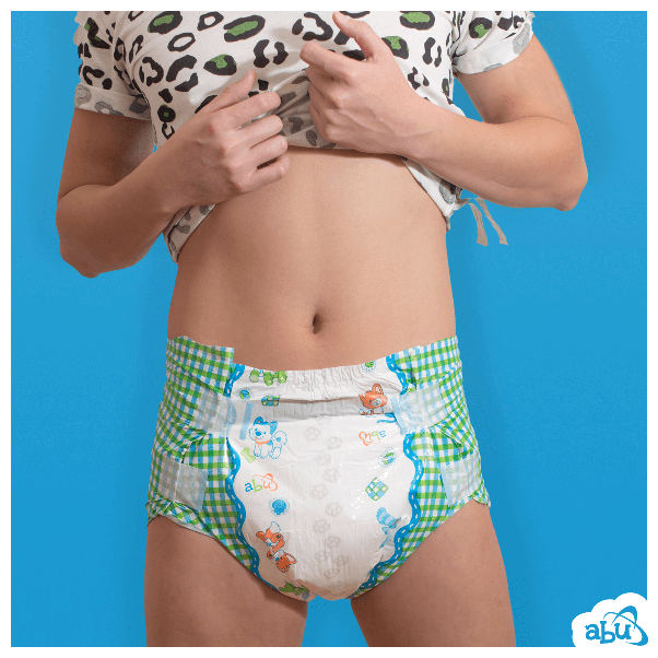 Adult wearing diaper pic