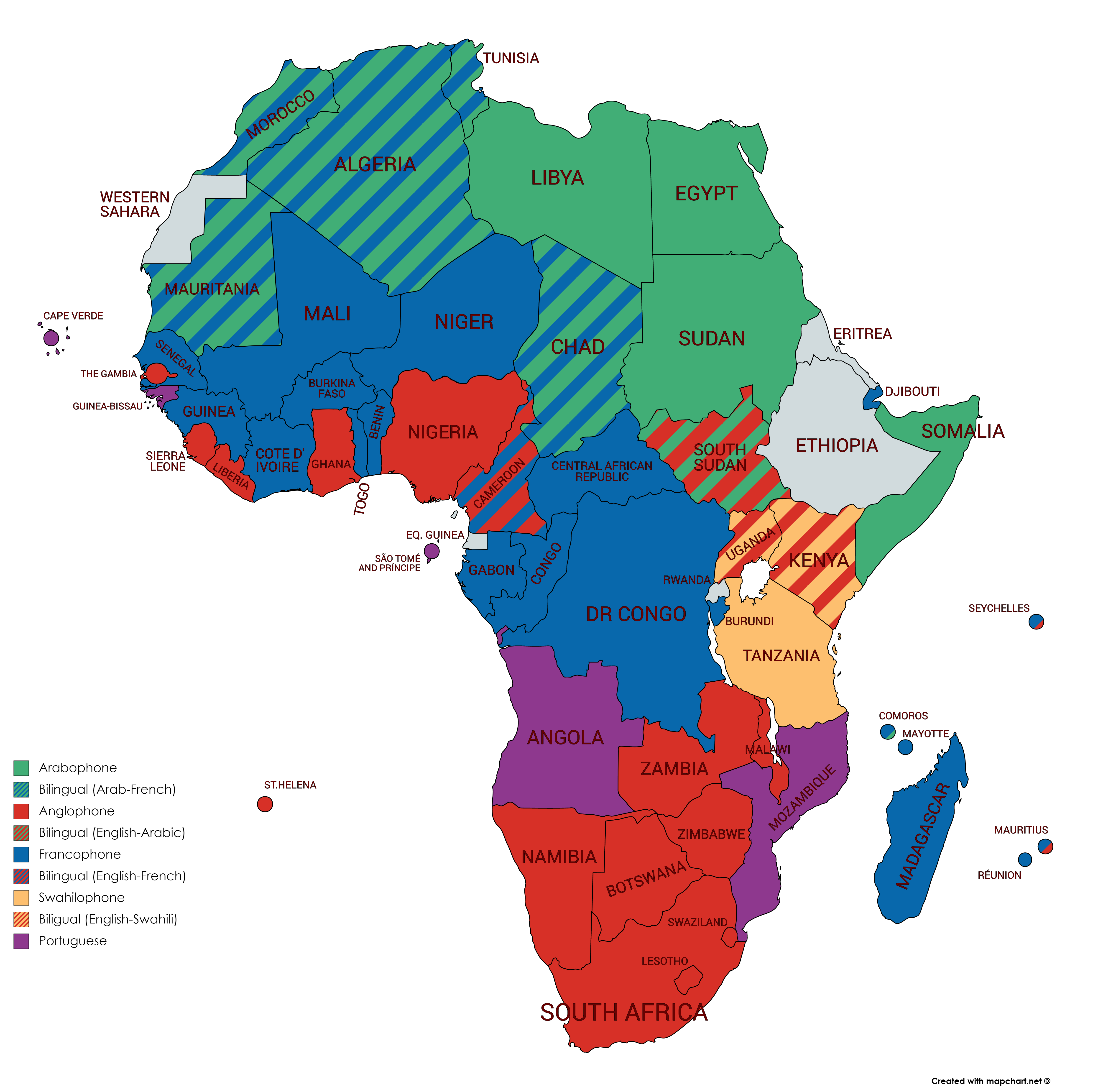 Francophone Africa Map.Do Francophone African Countries Choose The French Language Over