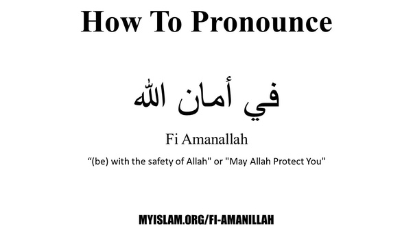 "What exactly does ""Fi Amanillah"" mean? When can we use it"