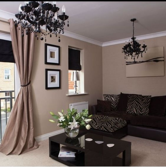 Brown Furniture In A Living Room