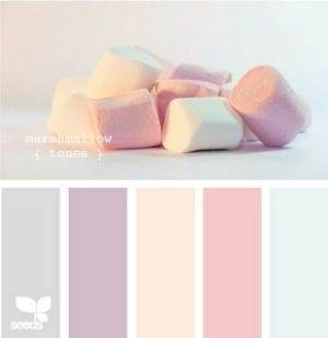 Pastels Really Do Complement Off White Color Taking In View The Contrast Of Cream And Pastel Blue Purple Or Even Pink