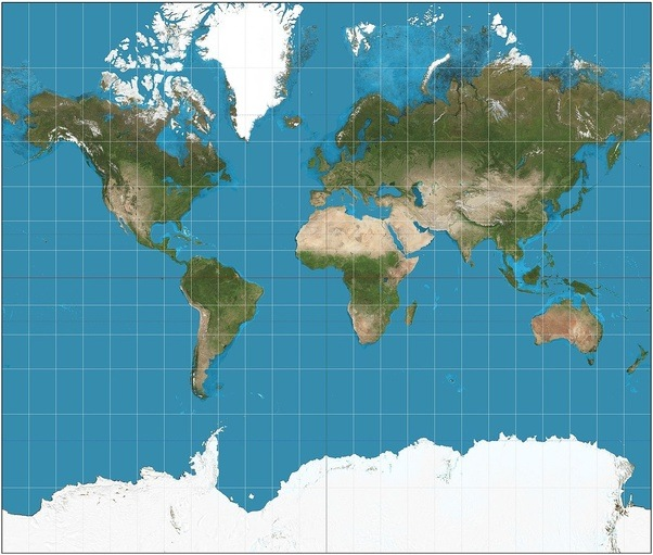 What if the world map was upside down quora it also looks much bigger than it actually is because mercator projection puts it in the vertical center of the map gumiabroncs Gallery