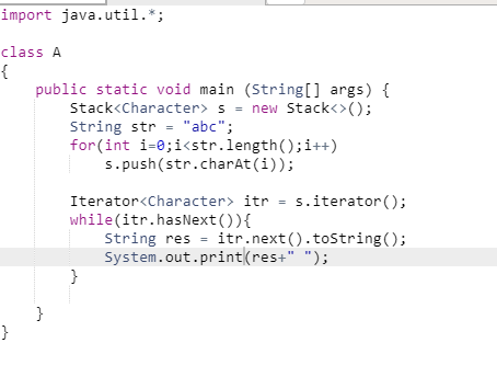 How to convert an element of a character stack into a string in Java