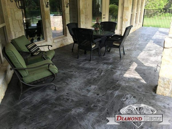 Stamped Concrete Patio Looks Like An Imitation No Matter How Well It S Done Also Almost All Will