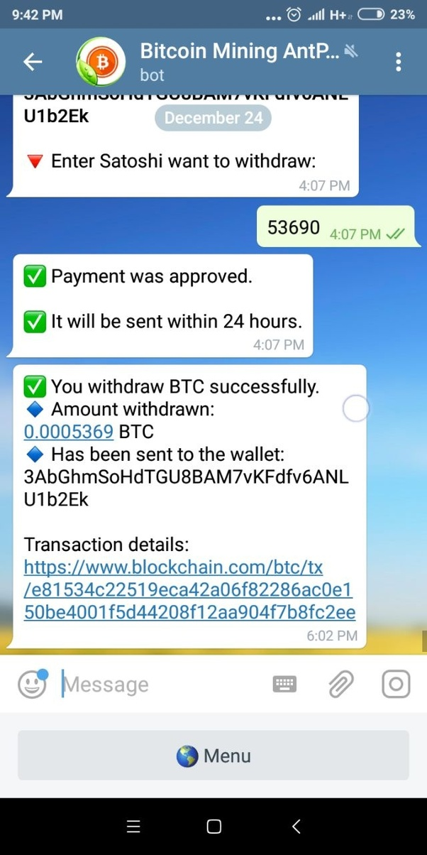 What are the best Bitcoin mining bots for Telegram in which