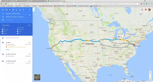 Can you travel the USA without the use of interstate highways ...
