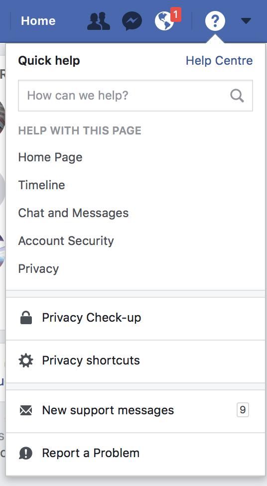 Problem Facebook